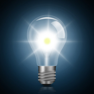 Light bulb illuminated,
