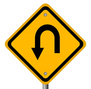 two way arrow road sign - Version 2