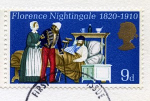 British Postage Stamp Commemorating Florence Nightingale
